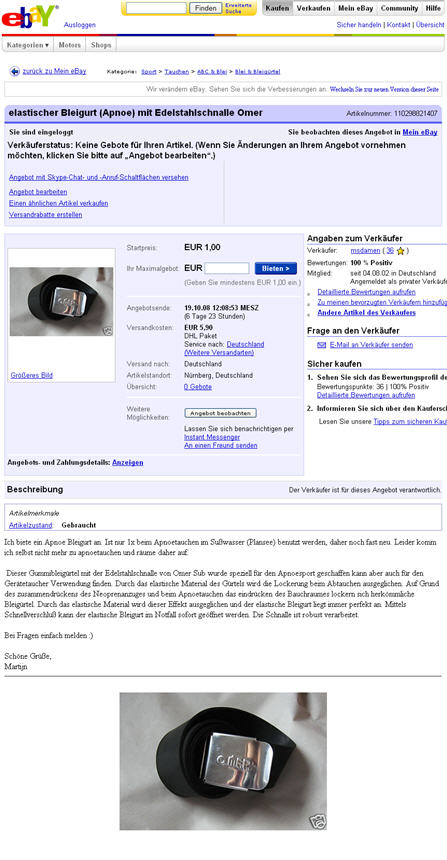 Sell some stuff on ebay olé