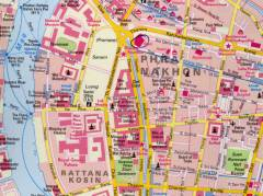 Map of Bangkok with location of hotel Royal