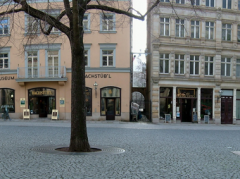 Panoramaview of square in Leipzig