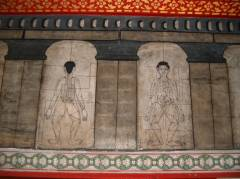 Images of acupressure in the oldest Univerisy Wat Pho